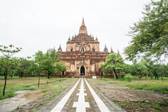 Sulamani temple (Pagoda) in Old Bagan (Pagan), Myanmar (Burma). The temple is one of the most-frequently visited in Bagan Royalty Free Stock Photography
