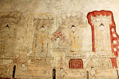 Sulamani Temple Wall Paintings, Bagan, Myanmar. The Sulamani Temple is a Buddhist temple located in the village of Minnanthu in Myanmar. It was built in 1183 by Royalty Free Stock Photos