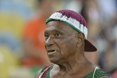 Sulamericana Cup 2017. Rio, Brazil - september 14, 2017: fan in match between Fluminense and  LDU by the Sulamericana Cup 2017 in Maracana Stadium Royalty Free Stock Image