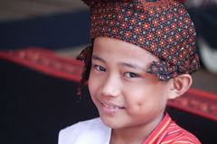 SULAWESI - August 25, 2014 portrait of a child that takes part i Royalty Free Stock Photo