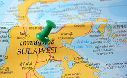 Sulawesi map Stock Photos
