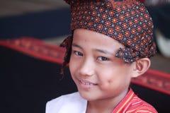 SULAWESI - Sierpień 25, 2014 portret dziecko który bierze części mnie Zdjęcie Royalty Free