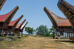 Sulawesi Tongkonan Fotografía de archivo libre de regalías