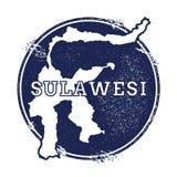 Sulawesi vector map. stock illustration