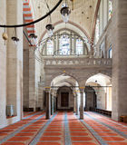 Sulaymaniye清真寺,伊斯坦布尔,土耳其内部射击  库存图片