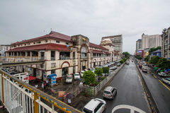 The Sule Boulevard with famous Bogyoke Market built in 1926 and formely know as Scott Market. Sule Boulevard are the busiest stree Royalty Free Stock Image