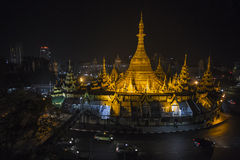 Sule Pagoda elevated view Stock Photo