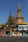 The Sule Pagoda of Rangoon in Myanmar Royalty Free Stock Images