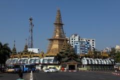 The Sule Pagoda of Rangoon in Myanmar Royalty Free Stock Photos