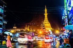 Yangon, Myanmar. Sule Pagoda in Yangon, Myanmar royalty free stock images