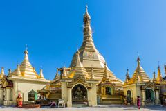 Sule Pagoda Yangon in Myanmar royalty free stock image
