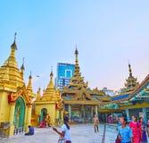 In Sule Pagoda of Yangon, Myanmar Stock Photos