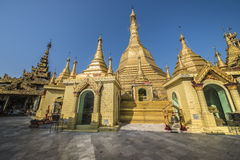 Sule Pagoda in Yangon. Sule Pagoda next to bandoola park in central Yangon Royalty Free Stock Images