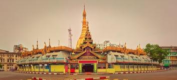 Sule Pagoda in Yangon. Panorama Stock Image