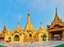 Sule Pagoda in Yangon. Panorama Royalty Free Stock Images