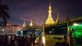 Sule Pagode Myanmar. Hot Myanmar Nights Royalty Free Stock Photography