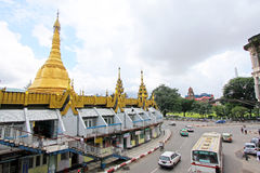 Sule Pagode, Yangon, Myanmar Lizenzfreies Stockfoto
