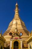 Sule Paya,缅甸的(Burmar)仰光 免版税库存照片