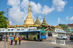 Sule Paya. Sule Pagoda in central Yangon Royalty Free Stock Image