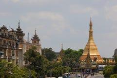 Sule paya (pagoda). Yangon. Myanmar. Royalty Free Stock Photography
