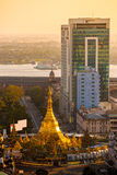 Sule Paya, Yangoon, Myanmar. Royalty Free Stock Image