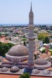 Suleiman,罗得岛,希腊清真寺  库存照片