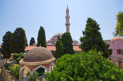 Suleiman,罗得岛,希腊清真寺  库存图片