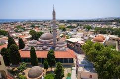 Suleiman,罗得岛,希腊清真寺  免版税库存照片