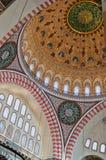 suleiman 01内部的清真寺 图库摄影