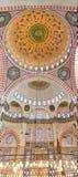 suleiman 02内部的清真寺 免版税库存照片