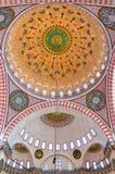 suleiman 03内部的清真寺 免版税库存图片