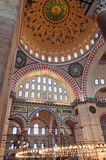 suleiman 10内部的清真寺 库存照片