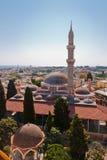 地标清真寺suleiman的罗得斯 免版税库存照片