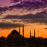 Suleiman Mosque 13. A view of the majestic Suleiman Mosque in Istanbul, Turkey Stock Photo