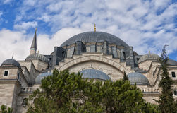 Suleiman Mosque 17. A view of the majestic Suleiman Mosque in Istanbul, Turkey Stock Image