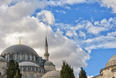 Suleiman Mosque 19. A view of the majestic Suleiman Mosque in Istanbul, Turkey Stock Image