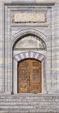 Suleiman Mosque doorway. A view of the majestic Suleiman Mosque doorway in Istanbul, Turkey Stock Photography