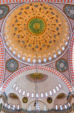 Suleiman Mosque interior 03 Royalty Free Stock Image