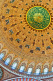 Suleiman Mosque interior 08. A view of the interior of the Suleiman mosque situated in the Turkish city of Istanbul Stock Images