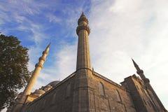 Suleiman mosque in Istanbul,Turkey. Minarets at Suleiman mosque in Istanbul,Turkey Stock Image
