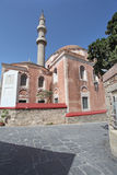 Suleiman Mosque in Rhodes old town. Greece. Stock Photos