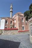 Suleiman Mosque in Rhodes old town. Greece. Stock Photos