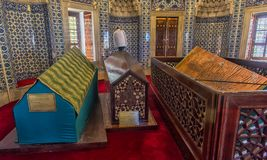 Suleyman的妻子Hurrem坟茔在伊斯坦布尔,土耳其 免版税库存照片