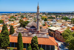 The Suleyman Mosque in the old town of Rhodes.Rhodes island.Greece Stock Photography