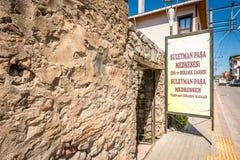 Suleyman Pasa Madrasa i Iznik, Turkiet Arkivbilder