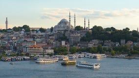 Suleymaneiye mosque in Istanbul stock footage