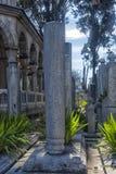 Suleymaniye有传奇土耳其语s的坟茔的清真寺公墓 免版税库存照片
