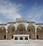 Suleymaniye清真寺在伊斯坦布尔土耳其-内在现场 免版税图库摄影