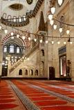 Suleymaniye清真寺在伊斯坦布尔土耳其-内部-讲坛 免版税库存照片