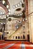 Suleymaniye清真寺在伊斯坦布尔土耳其-内部-讲坛 图库摄影